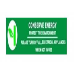 Signtech Conserve Energy Sign Board, GS-31