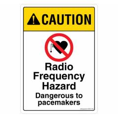 Safety Sign Store Caution: Radio Frequency Hazard Sign Board, SS637-A4AL-01