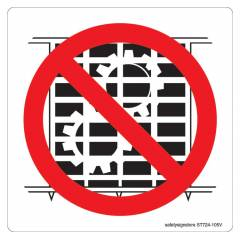 Safety Sign Store Do Not Operate Without Guards-Graphic Sign Board, ST724-105PC-01, (Pack of 5)