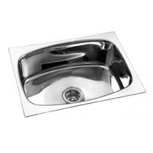 Camry CS-SB-2118-8 Stainless Glossy Steel Single Bowl Kitchen Sink, Steel Grade: JSS 202
