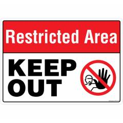 Safety Sign Store Restricted Area, Keep Out Sign Board, PS415-A3AL-01
