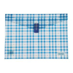 Saya Blue Clear Bag Superior, Dimensions: 340 x 15 x 350 mm, Weight: 52 g (Pack of 6)