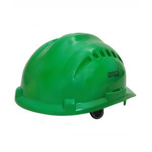 Udyogi Ultra Vent 7000 LRX Green Ratchet Plastic Helmet