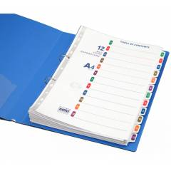 Solo 12 Pieces A4 Separator Set with Index, SP512 (Pack of 10)