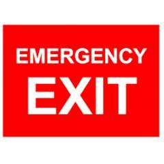 Mediateckboards EE1-046 Emergency Exit, Size: 6x12 in