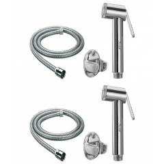 Snowbell Jaquar Sleek Health Faucet with 1m Flexible Tube (Pack of 2)