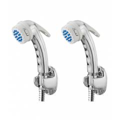 Snowbell Banana Health Faucet, Flexible Tube & Wall Hook (Pack of 2)