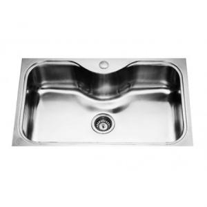 Jayna Oracle OR 01 Glossy Single Big Bowl Sink With Flange, Size: 32 x 20 in