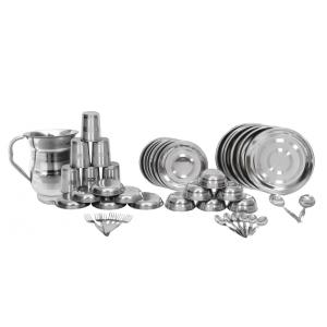 Scitek 44 Pieces Stainless Silver Steel Dinner Set with Free Jug
