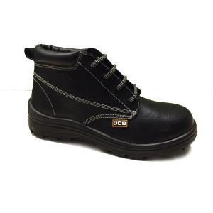 JCB Heatmax Steel Toe Black Safety Shoes, Size: 7