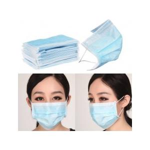 Max Pluss 3-Ply Disposable Face Masks and Respirator (Pack of 100)