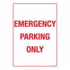 Safety Sign Store Emergency Parking only Sign Board, GS305-A3V-01