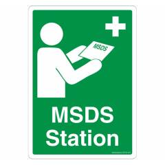 Safety Sign Store MSDS Station Sign Board, SS724-A4V-01