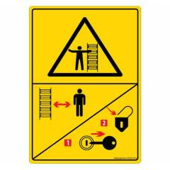 Safety Sign Store Danger: Entanglement Hazard-Bucket Wheel-Graphic Sign Board, DS422-A6V-01, (Pack of 5)
