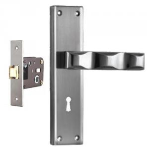 Plaza Victoria Stainless Steel Finish Handle with 200mm Baby Latch Keyless Lock