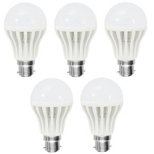 Superdeals 5W B-22 White LED Bulbs, SD137 (Pack of 5)