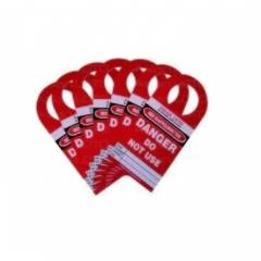 Asian Loto Scaffolding Lockout Tagout, ALC-LST-R (Pack of 10)