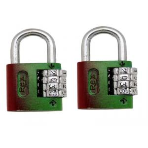 SmartShophar 4 Digit Zinc Medium Num Lock Padlock, 54026-PL4D-Z00-P2 (Pack of 2)