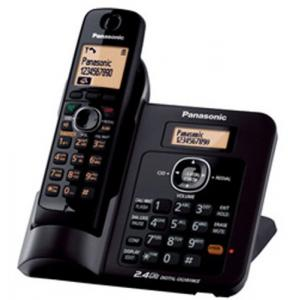 Panasonic 2.4GHz Black Single Line Digital Cordless Telephone with Caller ID, KX-TG3811SX