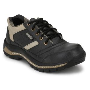 Kavacha S49 Pure Leather Steel Toe Black Safety Shoes, Size: 11