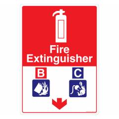 Safety Sign Store Fire Extinguisher-Liquid & Electrical Sign Board, FS404-A4V-01
