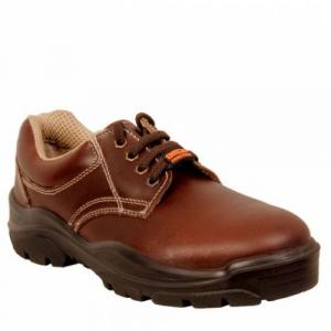 Acme AP-27 Sodium Steel Toe Low Ankle Brown Safety Shoes, Size: 11