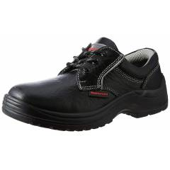 HONEYWELL HS100X Classic Leather Steel Toe Black Safety Shoes, Size: 4