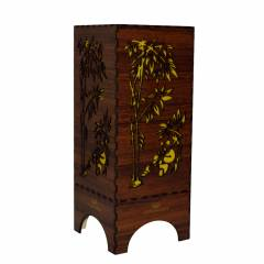 Dizionzrio DTBLPBR Yellow Handicrafts Wooden Look Hand Made Night Table Lamp