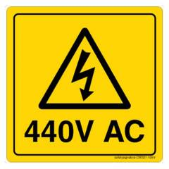 Buy Safety Sign Store Danger: 440 Volts Sign Board, CW321