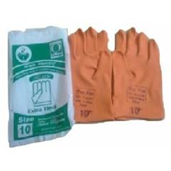 Tee Pee 22 Inch Orange Industrial Rubber Hand Gloves (Pack of 10)