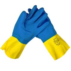 Midas Blue Capitol Natural Rubber Gloves (Pack of 10)