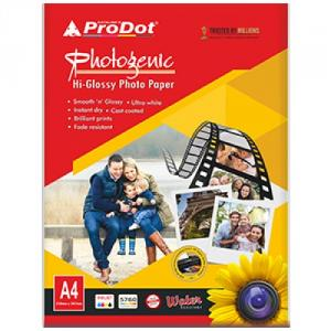 Prodot 210 GSM A4 Glossy Photo Paper, 20 Sheets