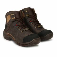 Udenchi UD760 Synthetic Material Steel Toe Brown Safety Shoes, Size: 6