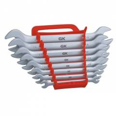 GK Art-501D Double Open Ended Elliptical Pattern Spanner 12 Pieces Set
