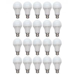 Audeom 5W B-22 White LED Bulbs (Pack of 20)