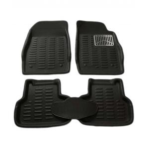 SS Speed Black 3D Car Foot Mat Set for Hyundai Creta