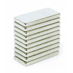 Neomag 92MININM31 N35-Ni Rectangle Shaped Silver Neodymium Magnet, Thickness: 2 mm (Pack of 10)