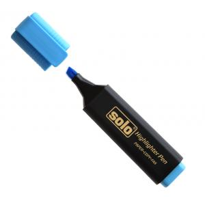 Solo Highlighter, HLF05, Colour: Blue (Pack of 10)