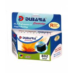 Dubaria 802 Tricolor Ink Cartridge For HP Printers