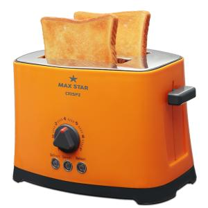 Max Star Crispz 2 Slices Pop Up Toaster, PT02