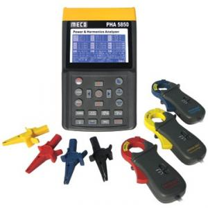 Meco Power and Harmonics Analyzer with Software and Clamp - 10/100/1000A, PHA 5850B
