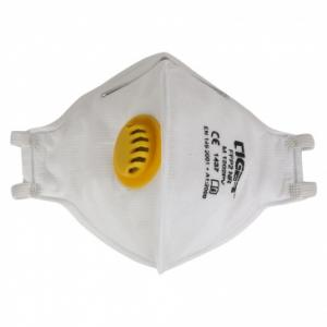 Mallcom M 1202PV White Face Mask Protective Gear With Valve (Pack of 10)