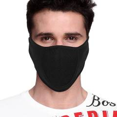 Gliders Black Skin Friendly Cotton Face Mask (Pack of 10)
