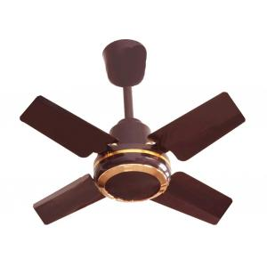 Brudo Mini Jumbo Brown 4 Blade Hight Speed Ceiling Fan, Sweep: 24 inch