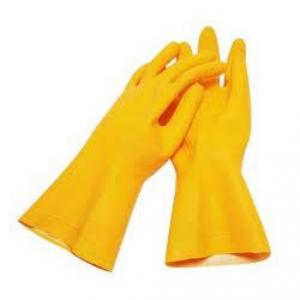 Shiva Rubber Hand Gloves, Size: 14 Inch (Pack of 10)
