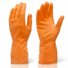 Ufo 90g Orange Flock Lined Latex Chemical Resistant Gloves, Size: XL
