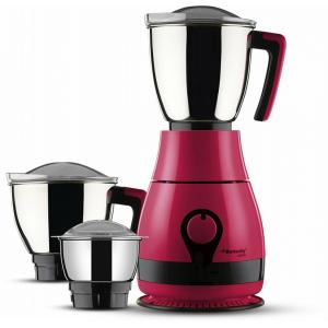 Butterfly Pebble 600W Pink Mixer Grinder with 3 Jars