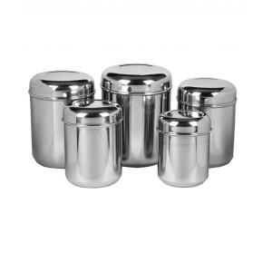 MLT Set of 5 Silver Canister