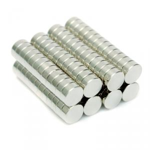 Neomag 2BNM N35-Ni Disc Shaped Silver Neodymium Magnet, Thickness: 2 mm (Pack of 100)