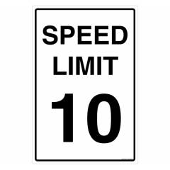 Safety Sign Store Speed Limit 10 Sign Board, TR501-90120REF-01
